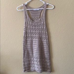 RVCA tan knit cover up